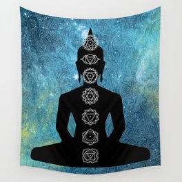 Sacred Geometry - Chakras Aligned Wall Tapestry