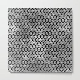 Mermaid Scales - Silver Metal Print