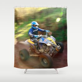 ATV offroad racing Shower Curtain