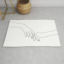 Hands line drawing illustration - Daily Rug