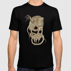 Dead Living by Tree Black MEDIUM Mens Fitted Tee
