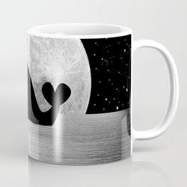 Whale Night Swim - Black and White Coffee Mug