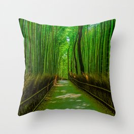 Bamboo Trail Throw Pillow