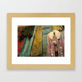 Fabrics! Framed Art Print