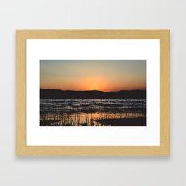 Bear Lake Sunset Framed Art Print