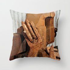 Hook and Vise Throw Pillow