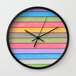 Rainbow Chalks Wall Clock