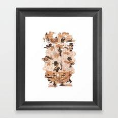 Spaghetti Western Framed Art Print