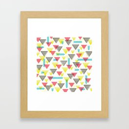 Wild Triangles Framed Art Print