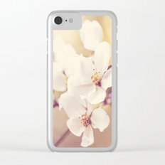 Pastel Apple Bloom Clear iPhone Case