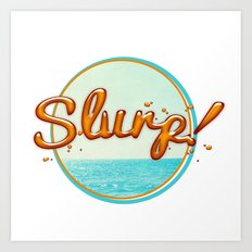 Summer Slurp! Art Print