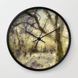 Summertime Forest Van Gogh Wall Clock