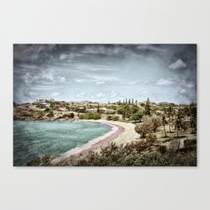 Living by the ocean Canvas Print