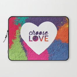 Choose Love Heart Quote Print Laptop Sleeve