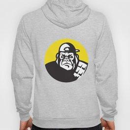 Angry Gorilla Head Baseball Cap Circle Retro Hoody
