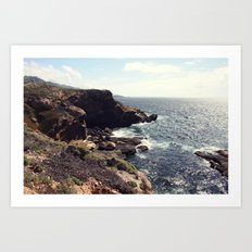 sea cliffs Art Print