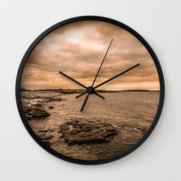 Sea Sky & Stone Wall Clock