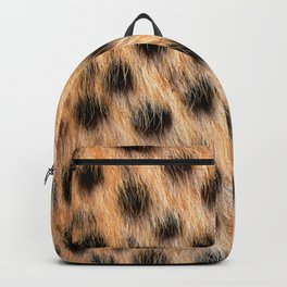 Animal Print Pattern Real Cheetah Fur Pattern Backpack