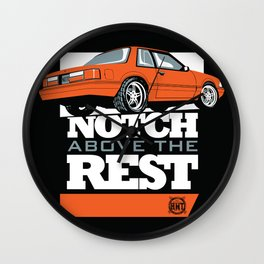 Notch Above the Rest Wall Clock