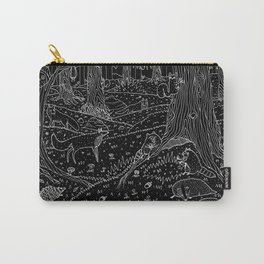 Nocturnal Animals of the Forest Carry-All Pouch