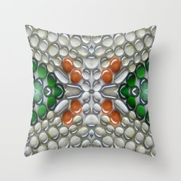 Terracotta Glass Bead Mosaic Throw Pillow