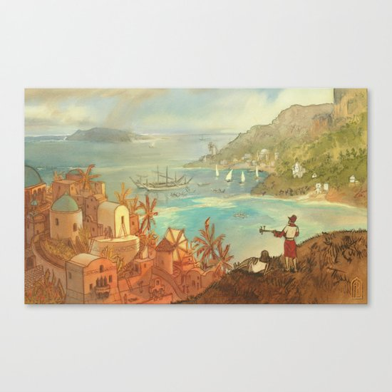 Provincial Polynesia Canvas Print