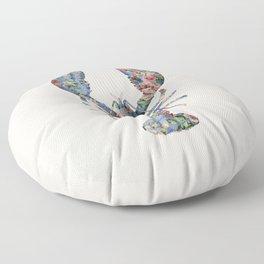 FLORAL LOBSTER Floor Pillow