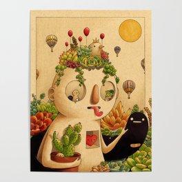 Succulent Man Poster