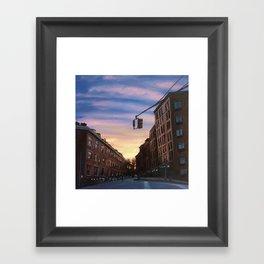 Chelsea Sunset, print of original oil painting Framed Art Print