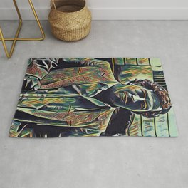 Pablo Escobar Artistic Illustration Picasso Style Rug
