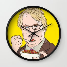 Philip Seymour Hoffman RIP With Granola Wall Clock