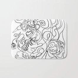 Dragon with rose Bath Mat