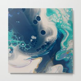 Day Dream Blues - Abstract Acrylic Art by Fluid Nature Metal Print