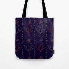 Purple Weeds Tote Bag