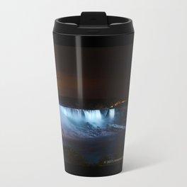 Niagara Falls at Night Metal Travel Mug