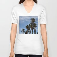 palms V-neck T-shirts featuring Palms by americanmom