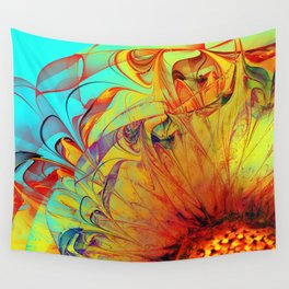 Sunflower Abstract Wall Tapestry