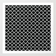 Black and White Graphic Flower Art Print