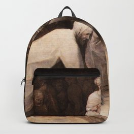 Pieter Brueghel the Elder - Christ and the Woman Taken in Adultery Backpack