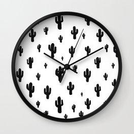 Mesa - black on white Wall Clock