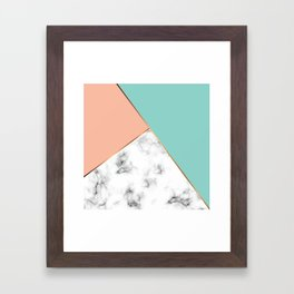 Marble Geometry 056 Framed Art Print