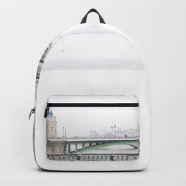 White Paris Backpack