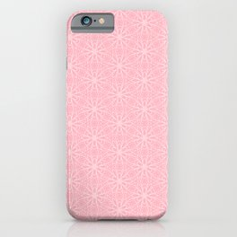 Millennial Pink Daisy Graphic Design Pattern iPhone Case