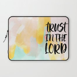 Trust the Lord - Christian Faith typography - Abstract Laptop Sleeve