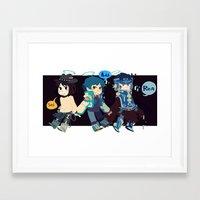 dmmd Framed Art Prints featuring DMMD-seragakis by Mimiblargh