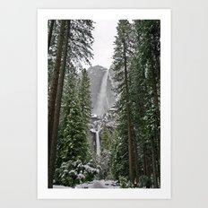 Yosemite Winter Falls Art Print