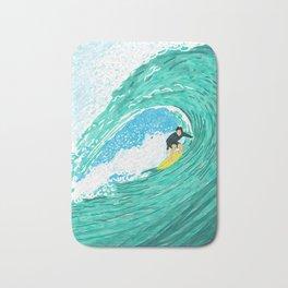 Big wave surfer Bath Mat