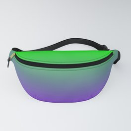 UFO Green Proton Purple Ombre Gradient Neon Ultra Violet Green Pattern Shiny Soft Texture Fanny Pack