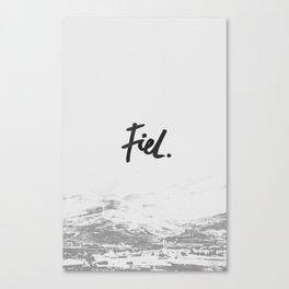 Fiel Canvas Print