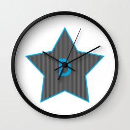 Initials   Star   D Wall Clock